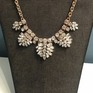 J. Crew gem cluster statement necklace